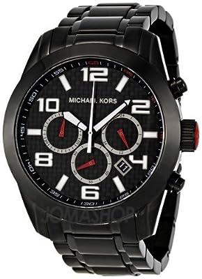 Micheal Kors MK8219 - Reloj de cuarzo para hombre, con correa de acero inoxidable, color negro
