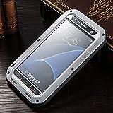 Meiya Galaxy S7 Hülle, Aluminium Metall, stoßfest, staubdicht, schmutzabweisend, Gorilla-Glas + Silikongummi + Metallrahmen Bumper Militär, strapazierfähig, Premium-Schutz Armor Hülle für Galaxy S7 SM-G930 A V T