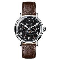 Ingersoll Men's The St Johns Quartz Watch withSchwarz Dial andBraun Leather Strap I01601
