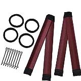 Ynmi 2 Pack Damen Fashion Hair Styling Donut Hair Bun Maker [Weinrot ] Perfekt für lange und dicke Haare ,[4 Pack Schwarz] Haarband Elastische [8 Pack Schwarz] Haarnadeln.