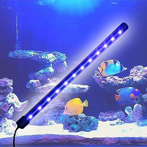 ECMQS Aquarium LED Licht Tauchbar Wasserdicht Bar Streifen Lampe EU Stecker (37cm)