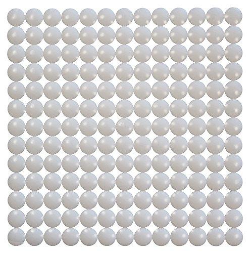 ID Mat Tapis Fond d'évier, 100% Polyester, Blanc, 32 x 32 cm