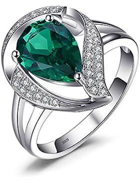 Jewelrypalace 1.7ct Luxus Grün Simulierte Nano Russischen Smaragd Damen Geschenk Silberring Ringe 925 Sterling...