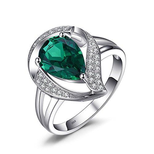 Jewelrypalace 1.7ct Luxus Grün Simulierte Nano Russischen Smaragd Damen Geschenk Silberring Ringe 925 Sterling Silber