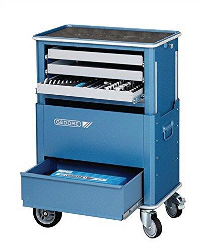 Werkstattwagen blau 4Schubl.silber 625x400xmax.900mm GEDORE absenkbar