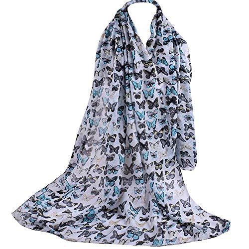 ABsoar Schal Damen Herbstschal Mädchen Poncho Kostüm Zubehör Frauen 4 Juli Flag Festliche Stola Eleganter Leichter Transparenter Pashminas Chiffon Stola