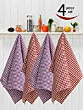 #6: Avira Home Kitchen Towels With Hanging Loop, Pack Of 4,(Multicolor)
