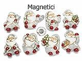 Ideapiu 16 Babbo Natale Magnetico in Ceramica Decorata c/calamita