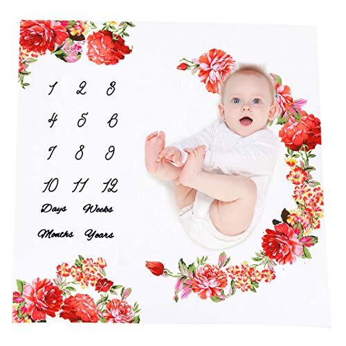 Baby Fotografie Decken Meilensteine | Neugeborene Fotografie Prop Decken | Baby Monatlich Wachsen Foto Hintergrund | Baby Girl Oder Boy Großartig Geschenk | Bettwäsche Wickel Swaddle -