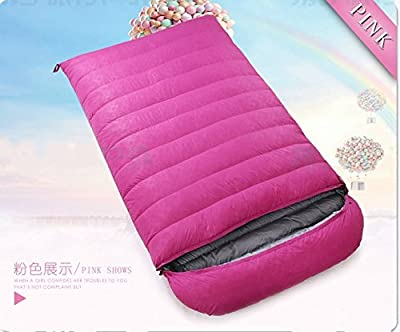 ZHUDJ Down Sleeping Bag, Outdoor Fishing Room, Adult Light Double Thickening Sleeping Bag,Pink,2000 Grams from ZHUDJ