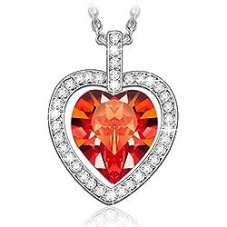 LADY COLOUR - Corazón Tavarua - Collar mujer con cristales de SWAROVSKI® - la coleccion Corazón de Cristal
