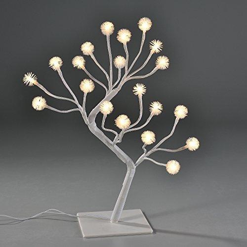 [in.tec] arbre à guirlande à LED 45cm illumination flocon de neige blanc chaud de Noël arbre déco intérieur décoration de table