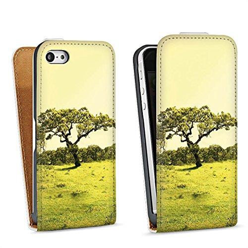 Apple iPhone 4 Housse Étui Silicone Coque Protection Arbre Paysage Prairie Sac Downflip blanc