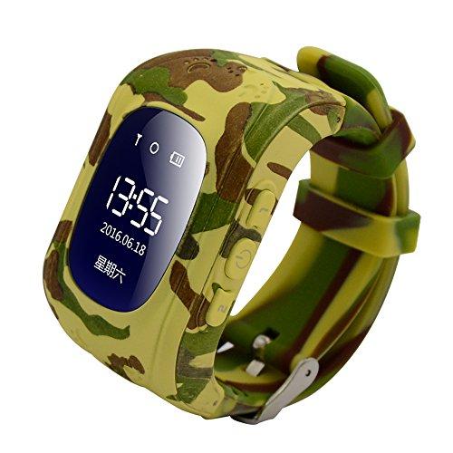 Reloj para Niños Q50, 9Tong Reloj Infantil Pulsera Inteligente Localizador Pantalla OLED...