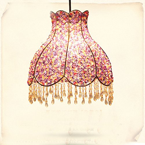 Hand-woven lampshade iron chande...