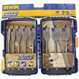 Irwin Blue Groove 10507603 - Juego de brocas de punta plana, 8 unidades