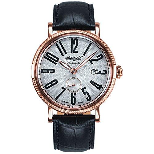 Ingersoll Herren Analog Automatik Uhr mit Leder Armband IN1414RWH