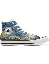 Converse All Star Hi Personnalisé et Imprimés Chaussures Coutume, Sneaker Unisex (Produit Italien Artisanal) Van Gogh 2