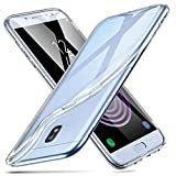 ESR Coque pour Samsung Galaxy J3, Coque Transparente Silicone Gel TPU Souple, Housse Etui de Protection Bumper [Anti Choc] [Ultra Fin] pour Samsung Galaxy J3 2017 (Série Jelly, Transparent)