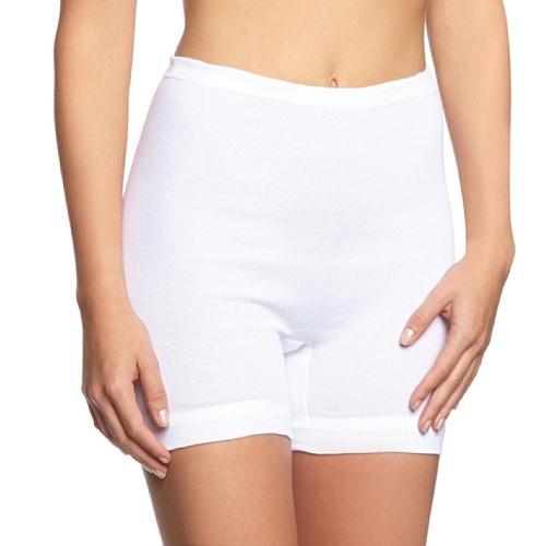 (HERMKO 1900 4er Pack Damen Schlüpfer mit längerem Bein aus 100% Baumwolle; 95°C waschbar, Farbe:weiß, Größe:60 (XXXXL))
