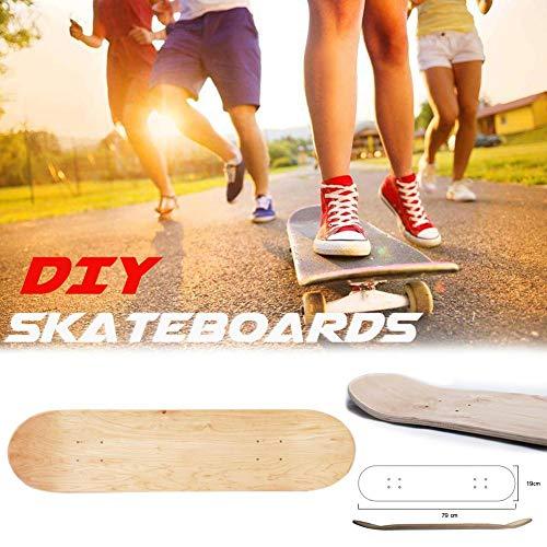 miss-an 8 Zoll 8-Schicht-Ahorn Double Concave, Blank Skateboard Deck, natürliche Skate Deck Board-Nachhaltigkeit (Blank Ahorn Decks Skateboard)