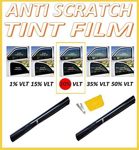 Preisvergleich Produktbild 76cmx 6m kratzfest Professional Auto Fenster Tint Film Dark Smoke Schwarz 20%