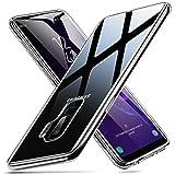 ESR Hülle für Samsung Galaxy S9 Plus, 9H Gehärtetes Glas Rückendeckel Schützhülle Glasrückseite [Kratzfest] Handyhülle + Weicher Silikon Bumper [Stoßdämpfung] für Galaxy S9+ S9P -Transparent
