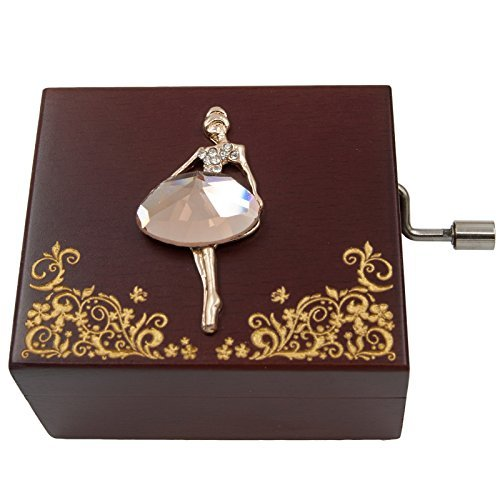 Wingostore Mini Handcrank Music Box Hand Kurbel Spieluhren Tune of Für Elise (Ballerine) -
