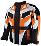 Bangla Kinder Motorradjacke Tourenjacke Textil 1535 Schwarz orange 164