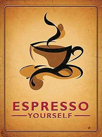 Espresso Yourself. Coffee mug cup. Hot Coffee. For coffee shop,