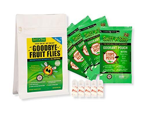 SNIFF'n'STOP IS-FFP-005 Goodbye Fruit Flies, Grün, 5 Beutel pro Beutel