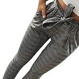 BaZhaHei de Pantalón, Pantalones Florales de Pierna Ancha con Estampado a Rayas de Cintura Alta Sexy para Mujer de Sexy High Waist Stripe Print Floral Wide Leg Pants de Pantalones Casuales a Rayas