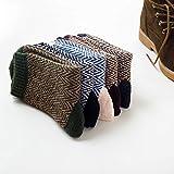 5 Paar Männer Vintage Style Herbst Winter Weich Warm Dick Gestrickt Wolle Mannschafts Socken