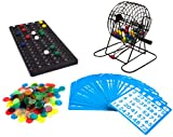 Royal Bingo Supplies Deluxe 6-Inch Game with Colored Balls, 300 Bingo Chips and 50 Bingo Cards by Brybelly Holdings, Inc