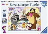 Ravensburger Puzzle 10590 Masha und der Bär Malen mit Mascha