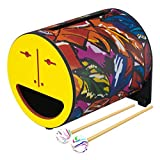 "Remo 832392 Rl-0708-09-Yy Rhythm Log Drum 8"" Foglia Tropicale, Giallo"