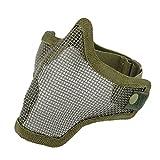 Often(TM) Half Face Métal Mesh Net Masque de protection extérieure Airsoft Vert d'armée
