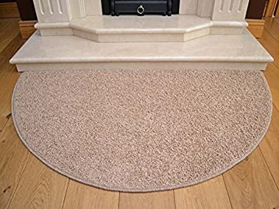 Beige Half Moon Rug. Size 70cm x 137cm produced by Rugs Supermarket - quick delivery from UK.