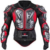 Per Chaqueta de Armadura Hombre para Motocross Esquí CS y Montar Bici Protector para Deportes al Aire Libre (Rojo, L)