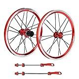 Xinwoer Ruote in Lega di Alluminio V Freno F&R Cuscinetto Ruote per refitting Bici Pieghevole da 16 Pollici e Moto da Cross, Supporto Sistema frenante V