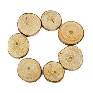 WINOMO 100pcs Bois Tranches Disques