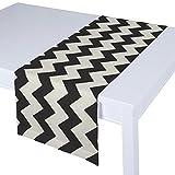 Dekoria Rechteckiger Tischläufer 40 x 130 cm schwarz- weiss
