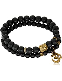 Young & Forever Friendship Day Gifts for Best Friend raksha bandhan Gifts for Sister & Brother D'vine Set of 2 Yoga & Meditation Om Charm Buddha Reiki Beads Bracelet