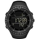 Keepwin Führen Sie Schritt Mann Uhr Armband Pedometer Kalorienzähler Digital LCD Gehende Entfernung Elektronische Uhr Durch (Black)