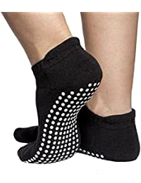 Skyba Anti Rutsch Socken Stoppersocken Noppensocken für Damen- Grips für Barre, Pilates, Yoga, Schwangerschaft- (Multi Pack)