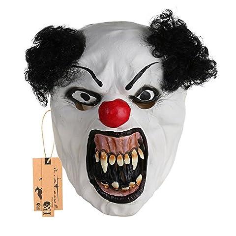 hyalinität & Dora Halloween Latex Clown Maske mit Haar für Erwachsene, Halloween-Kostüm Party Requisiten (Halloween Kostüme Arts And Crafts)