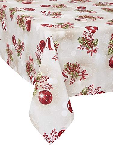 1KDreams Mantel Navidad Algodón. diseño Refinado