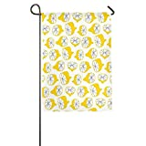 Dozili Flagge Gelb Zitronengelb Dekoration Garten Flagge wetterfest & doppelseitig Hofflagge, Polyester, bunt, 28
