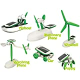 Play Design New 6 in 1 Educational Solar Robot Energy Kit.Projects for Kids