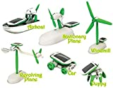 #3: PLAY DESIGN NEW 6 in 1 Educational Solar Robot Energy Kit.Projects For Kids